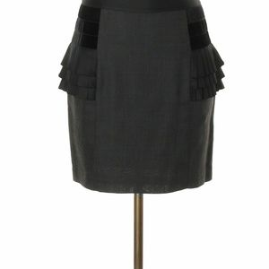 Bird By Juicy Couture Gray Ruffleside Pencil Skirt